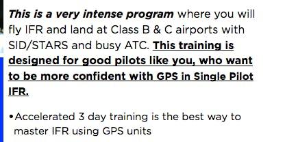 3 Day Single Pilot IFR Master Program - Oct/2019