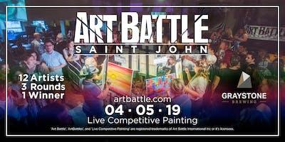 Art Battle Saint John - April 5, 2019