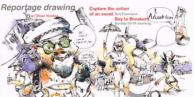 Reportage drawing - Bay to Breakers!
