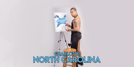 Booze N' Brush Next to Naked Sip n' Paint Charlotte, NC- Exotic Male Model Painting Event