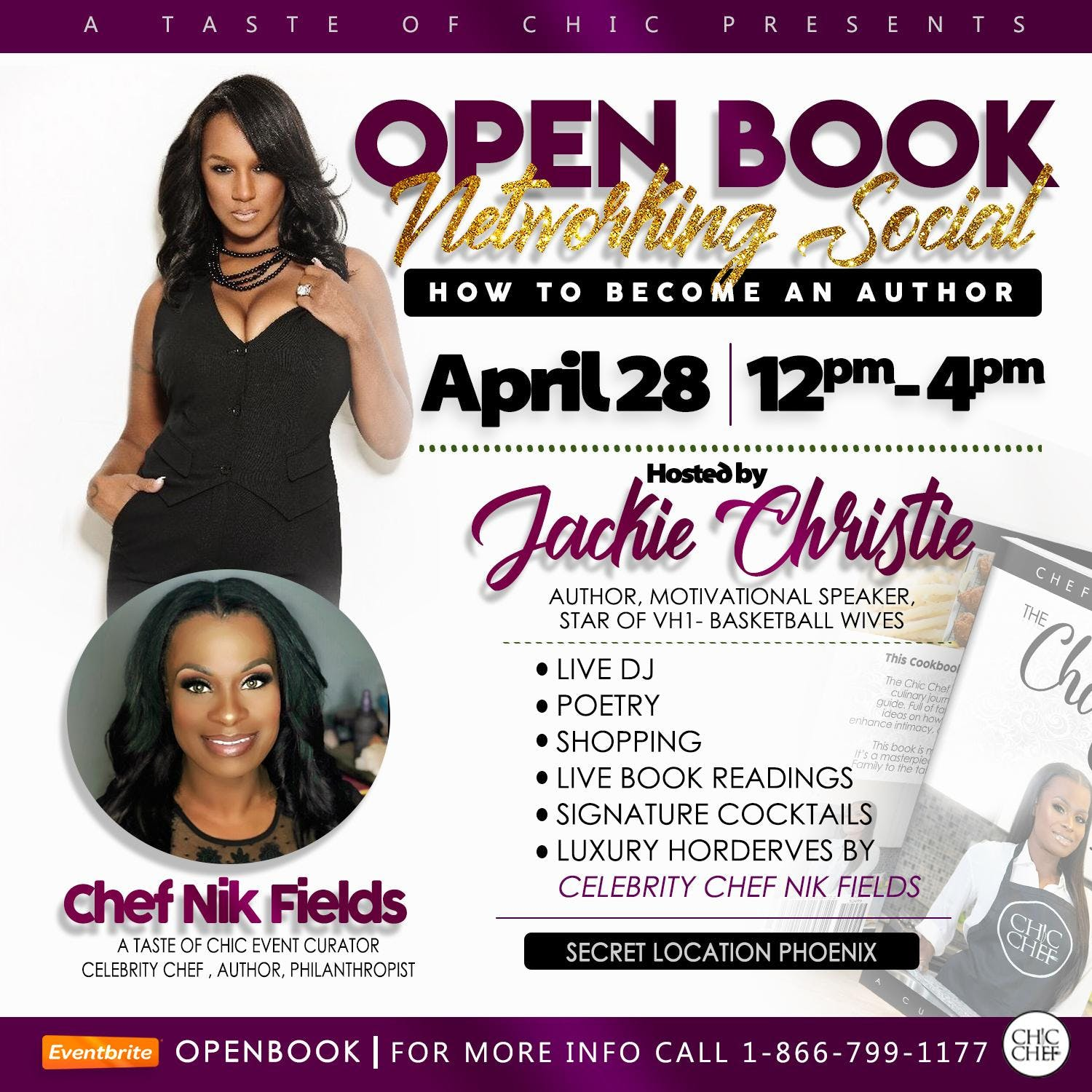 A Taste of Chic Presents: Openbook Networking Social