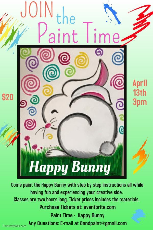 Paint Time - Happy Bunny