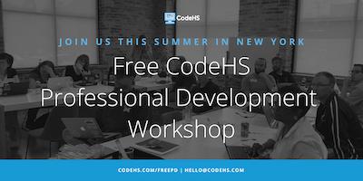 Free CodeHS Professional Development Workshop - New York, New York