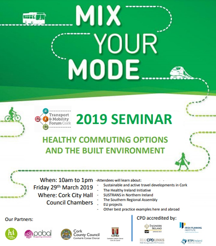 Mix Your Mode Seminar- Healthy Commuting Options and the Built Environment image