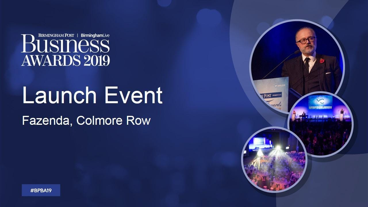 Birmingham Post Business Awards - Launch even