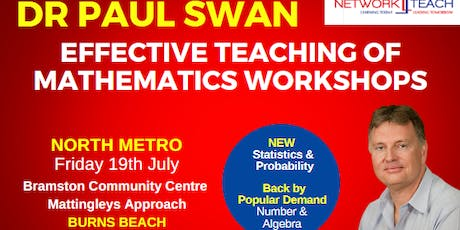 Paul Swan: Effective Teaching of Mathematics within the Statistics & Probability Strand Workshop (North Metro) tickets