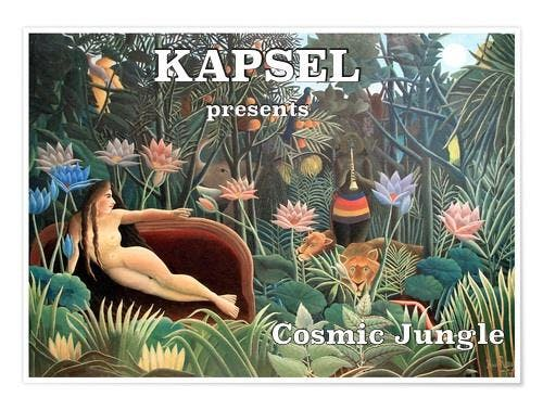 Kapsel presents Cosmic Jungle with two special techno guests from Bar25 / Kater Blau Berlin; Martha van Straaten and The Sorry Entertainer