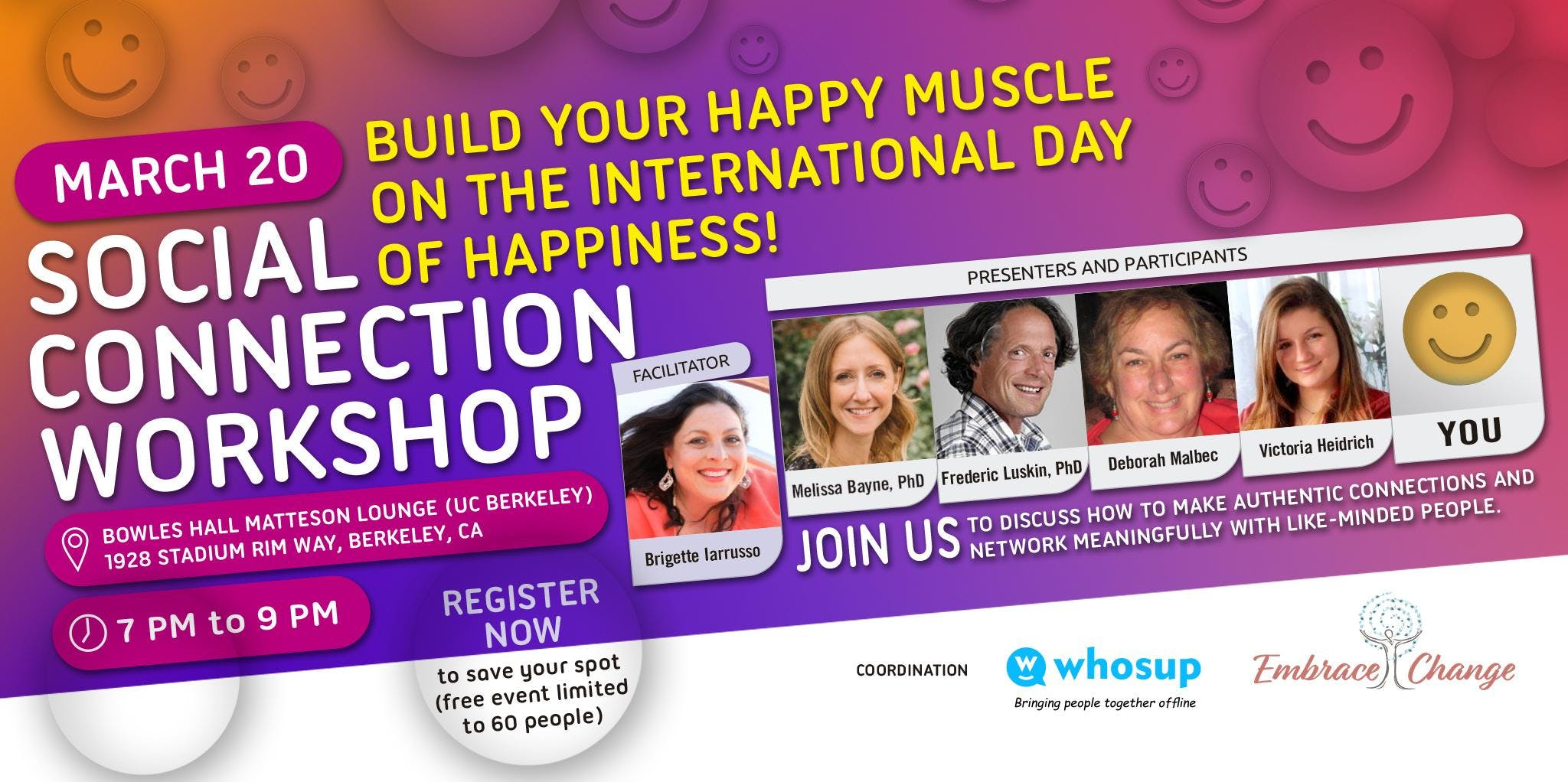 Social Connection Workshop: Build your happy muscle on the International Day of Happiness!