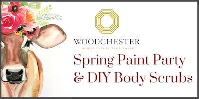 Spring Paint Party & Homemade Sugar Scrub!