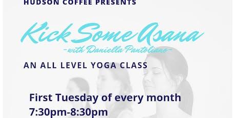 Hudson Coffee Yoga- Kick Some Asana  tickets