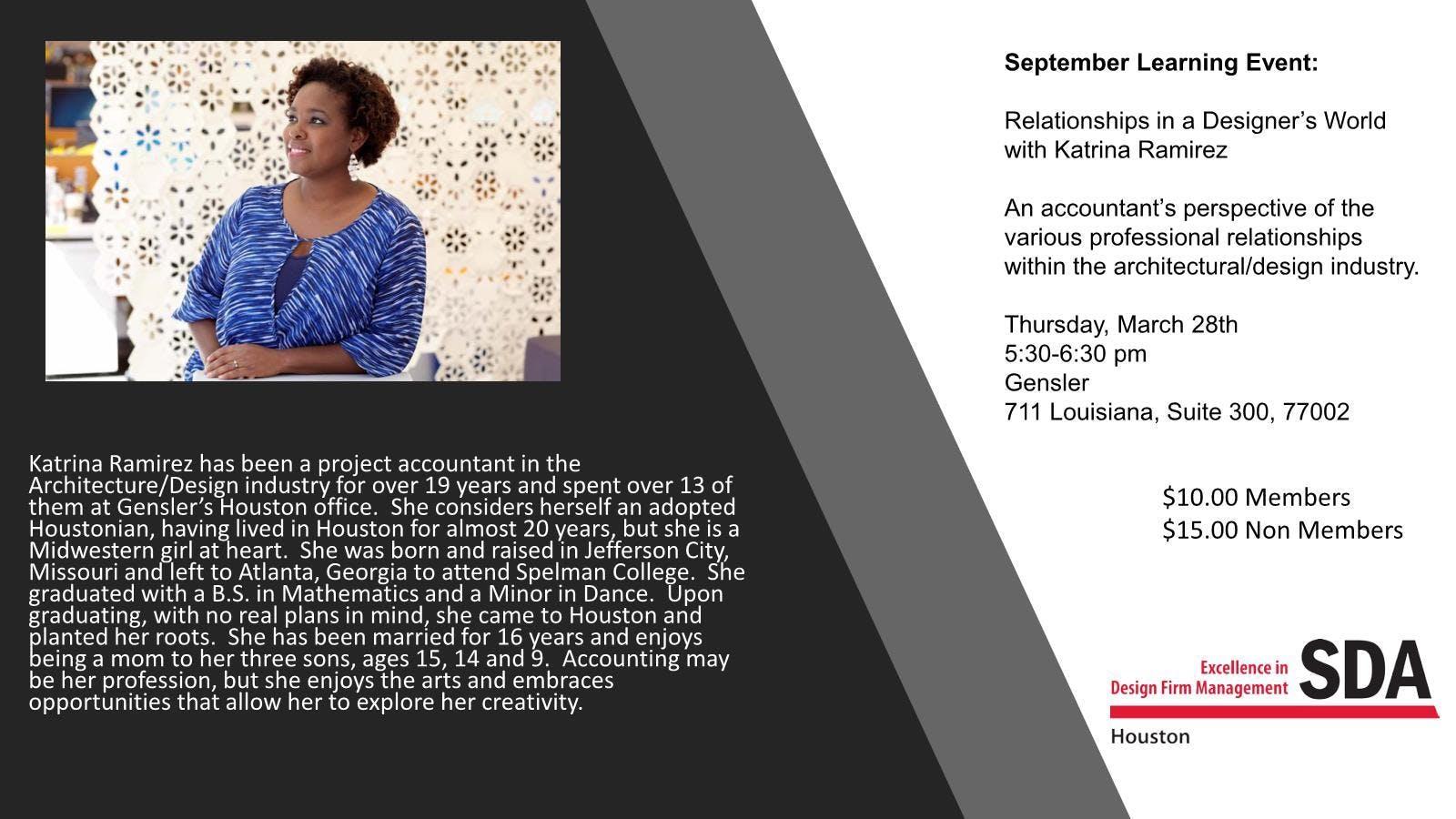 Relationships in a Designer's World with Katrina Ramirez