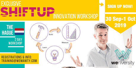 Shiftup Business Agility & Innovation Leader (Workshop)- Netherlands tickets