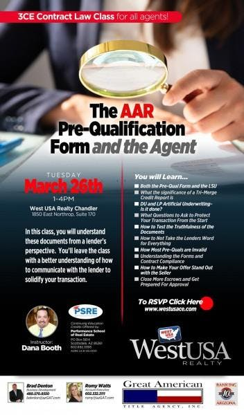 The AAR Pre-Qualification Form