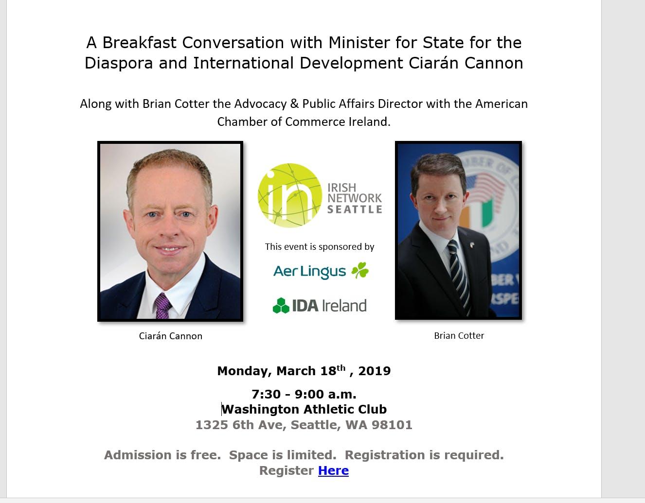 Irish Network Seattle Business Breakfast with