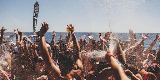 Cirque de la Nuit Ibiza sunset boat party & pool party