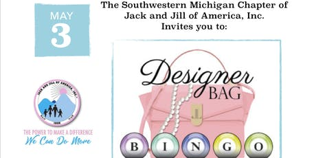 Pink and Blue Designer Bag BINGO tickets