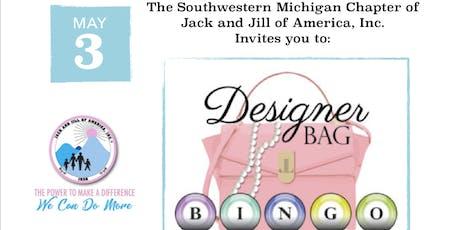 Pink and Blue Designer Bag BINGO tickets