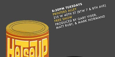 HOT SOUP comedy show at Printers Alley