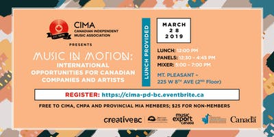 Music in Motion: International Opportunities for Canadian Companies and Artist