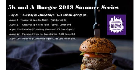 Sandy's Summer Series 5k and A Burger tickets