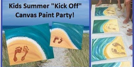 """Kids Summer """"Kick Off"""" Canvas Paint Party! tickets"""