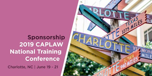 Sponsorship | 2019 CAPLAW National Training Conference