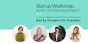 Startup workshop: Intro to starting up right
