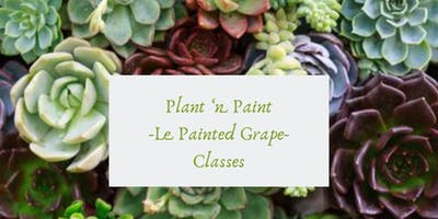 Plant 'n Paint Wine Glass Class at Books Around The Corner  05/19