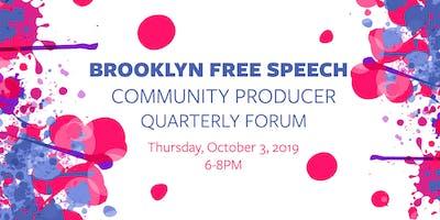 Brooklyn Free Speech TV & Radio Community Producer Meeting, October 2019