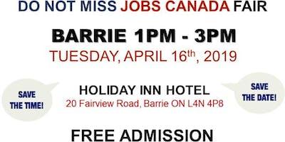FREE: Barrie Job Fair – April 16th, 2019