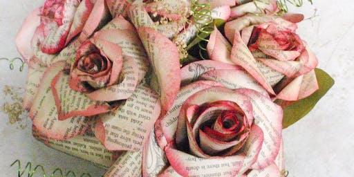 Make and Create: Repurposed book paper rose