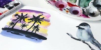 New Watercolor - Aquarell mit @maedchenkunst - Christin Stapff