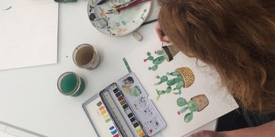 Aquarell und Watercolor mit Frau Maravillosa - Illustration und Lettering