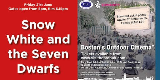 Snow White and the Seven Dwarfs - Boston's Outdoor Cinema