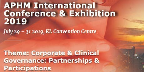 APHM International Healthcare Conference and Exhibition 2019 tickets