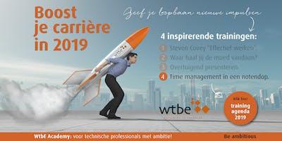 Boost je carrière met WtbE! Training 4: Time management in een notendop!