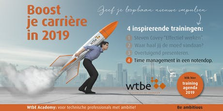 Boost je carrière met WtbE! Training 4: Time management in een notendop! tickets