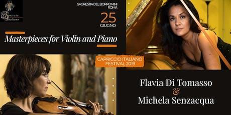 """""""Masterpieces for Violin and Piano"""" biglietti"""