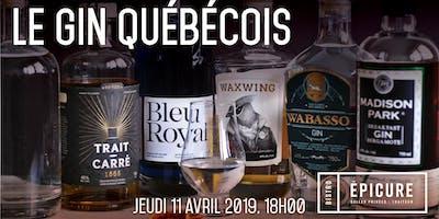 Soirée dégustation gin québécois
