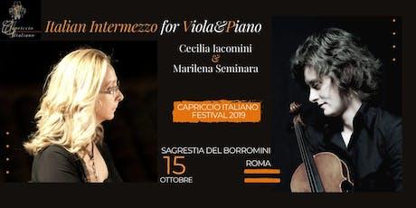 """""""ITALIAN INTERMEZZO FOR VIOLA&PIANO"""" biglietti"""