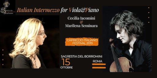 """""""ITALIAN INTERMEZZO FOR VIOLA&PIANO"""""""