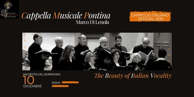 """THE BEAUTY OF ITALIAN VOCALITY"" – ******** MUSICALE PONTINA"
