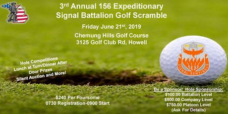 3rd Annual Golf Outing- 156 Expeditionary Signal Battalion tickets