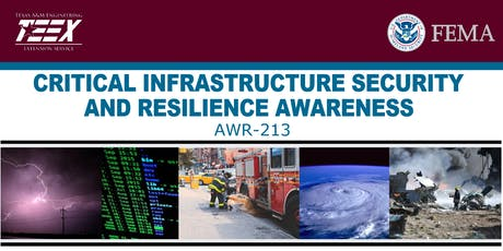 TEEX AWR-213 Critical Infrastructure Security & Resilience Awareness tickets