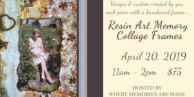 Resin Art Memory Collage Frames