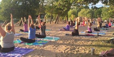 Sunset Yoga at Deer Lake Beach