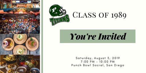 Poway High Class of '89 30th Reunion