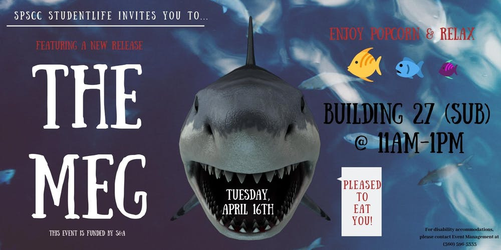 Spscc Studentlife Presents The Meg Tickets Tue Apr 16 2019 At 11