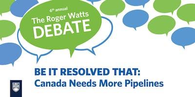 6th Annual Roger Watts Debate
