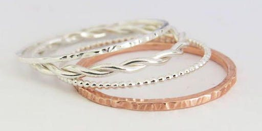Stackable Textured Rings